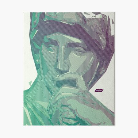 Lorenzo Scanline Portrait | Day Time Art Board Print