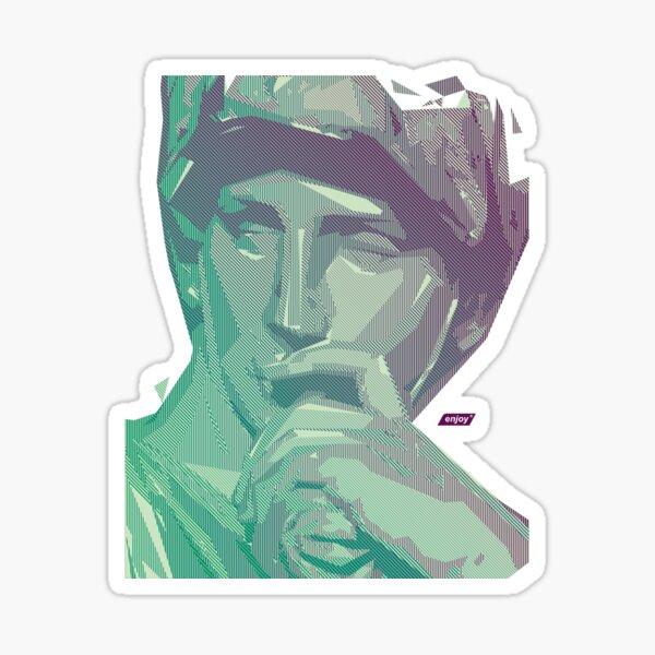 Lorenzo Scanline Portrait | Day Time Sticker