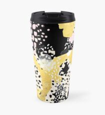 Simone - abstract painting gold foil trendy hipster pastel pink modern trendy colors decor college Travel Mug