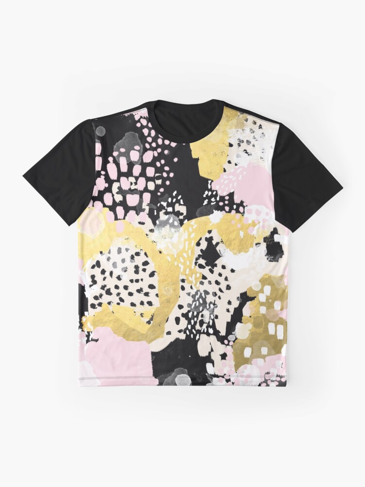 Alternate view of Simone - abstract painting gold foil trendy hipster pastel pink modern trendy colors decor college Graphic T-Shirt