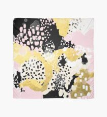 Simone - abstract painting gold foil trendy hipster pastel pink modern trendy colors decor college Scarf
