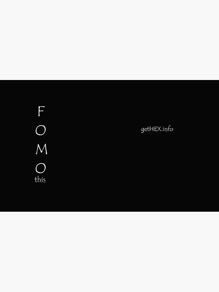 FOMO this by FOMO-Pants
