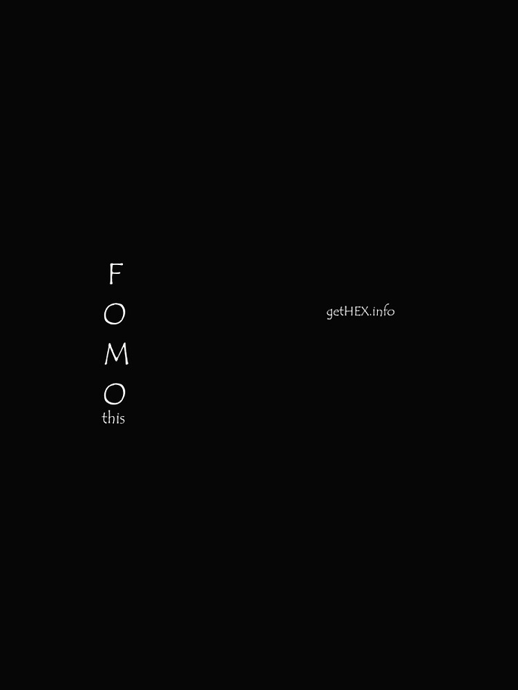 FOMO this by FOMO-Pants
