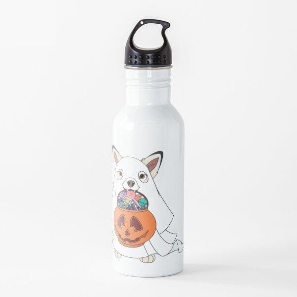 Cartoony Ghost Pup Design Water Bottle