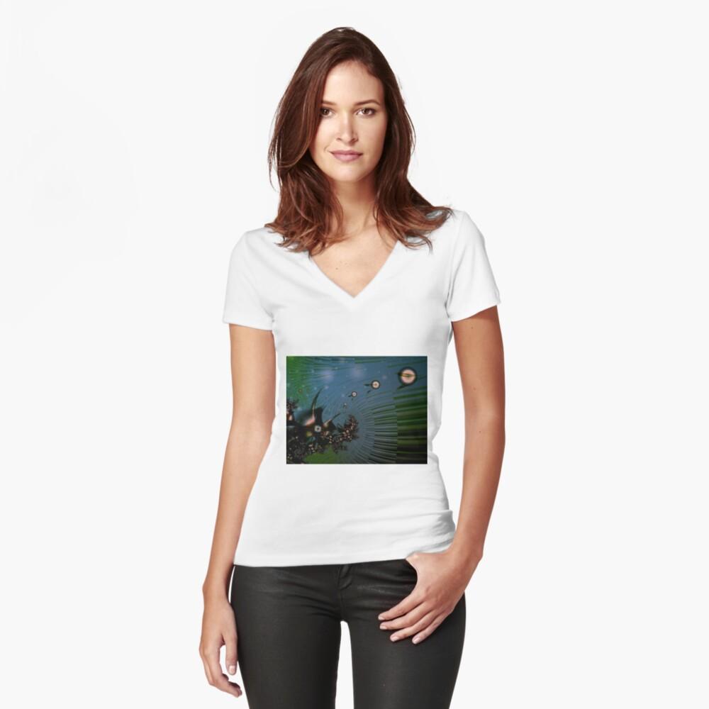 Fairy Dust Art Design Fitted V-Neck T-Shirt