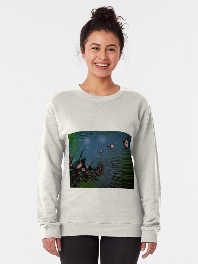 Alternate view of Fairy Dust Art Design Pullover Sweatshirt