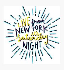 Saturday Night Live Photographic Print
