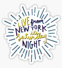 Saturday Night Live Sticker