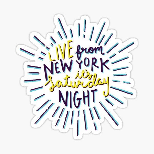 Saturday Night Live Sticker