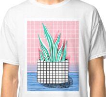 Glam - modern pop art memphis throwback retro 1980s style bklyn grid pattern new york city Classic T-Shirt