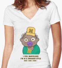 Little King - A Swagger Style Women's Fitted V-Neck T-Shirt