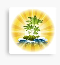 Tropic Theme Canvas Print