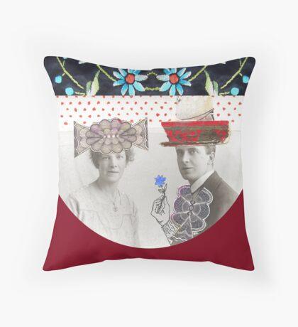 Kublai Khan and Chabui Throw Pillow