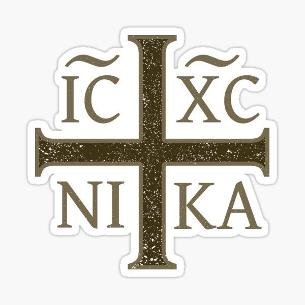 IC XC NIKA Christogram Crucifix Orthodoxy Eastern Christian Sticker
