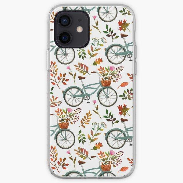 Autumn bike ride on white background iPhone Soft Case
