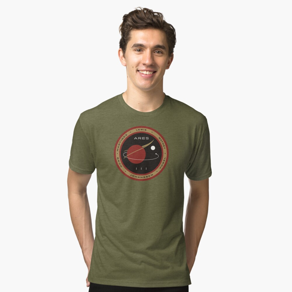 Ares III Mission patch - The Martian Tri-blend T-Shirt Front
