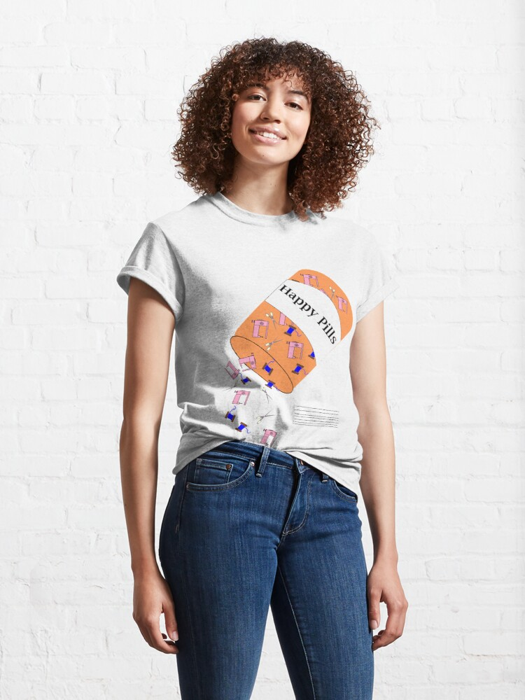 Alternate view of Sewing Happy Pills Classic T-Shirt