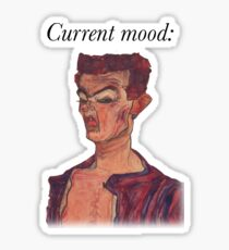 Humeur actuelle: Egon Schiele Sticker