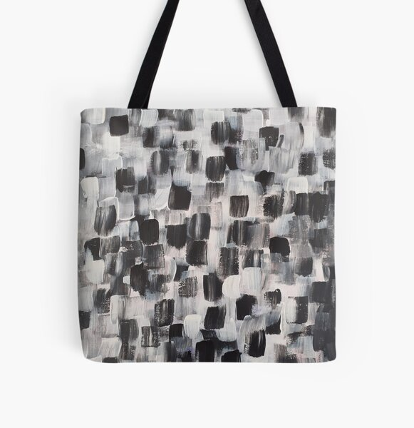 Black and White All Over Print Tote Bag