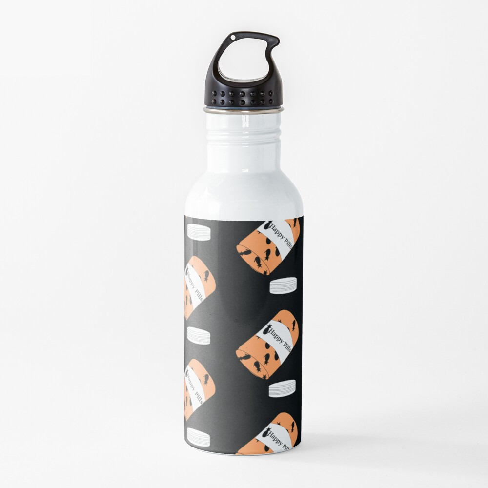 Cat Happy Pills Water Bottle
