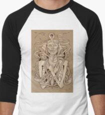 image of pharaoh mummy with snakes on parchment T-Shirt