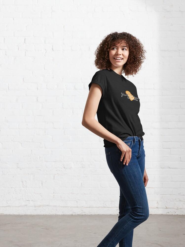 T-shirt classique ''J'aime me beurre la biscotte': autre vue