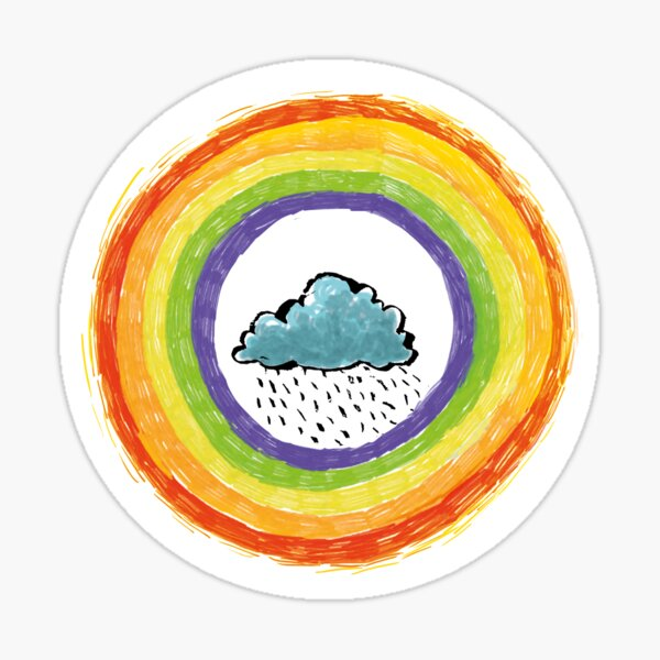 Corona Hoffnungssymbol Regenbogen Sticker