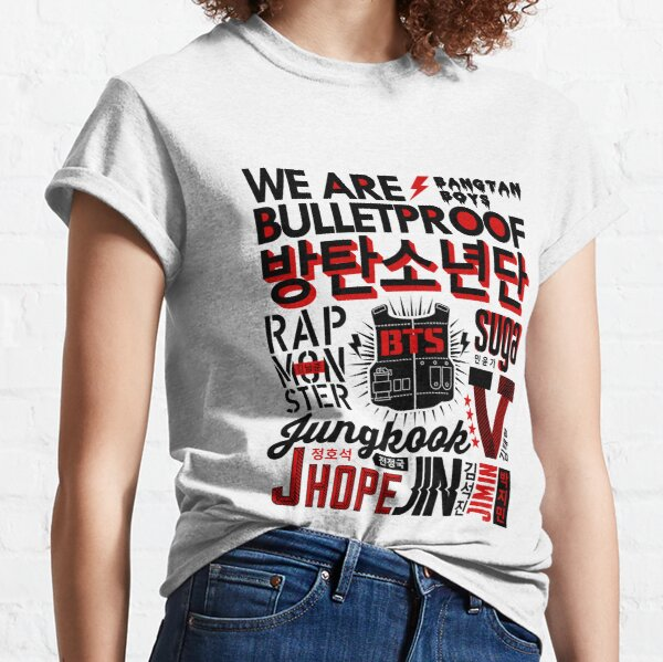 BTS Collage Camiseta clásica