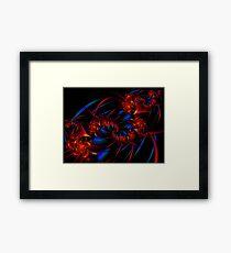 Red vs Blue Framed Print