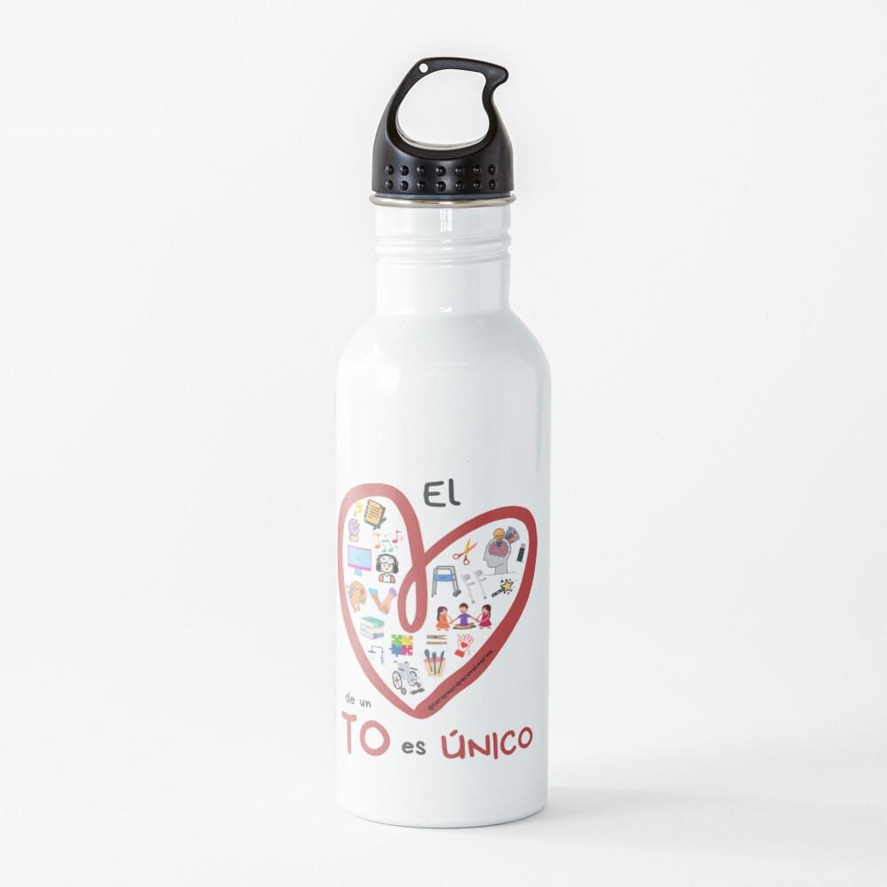 El corazón de un TO es único Botella de agua