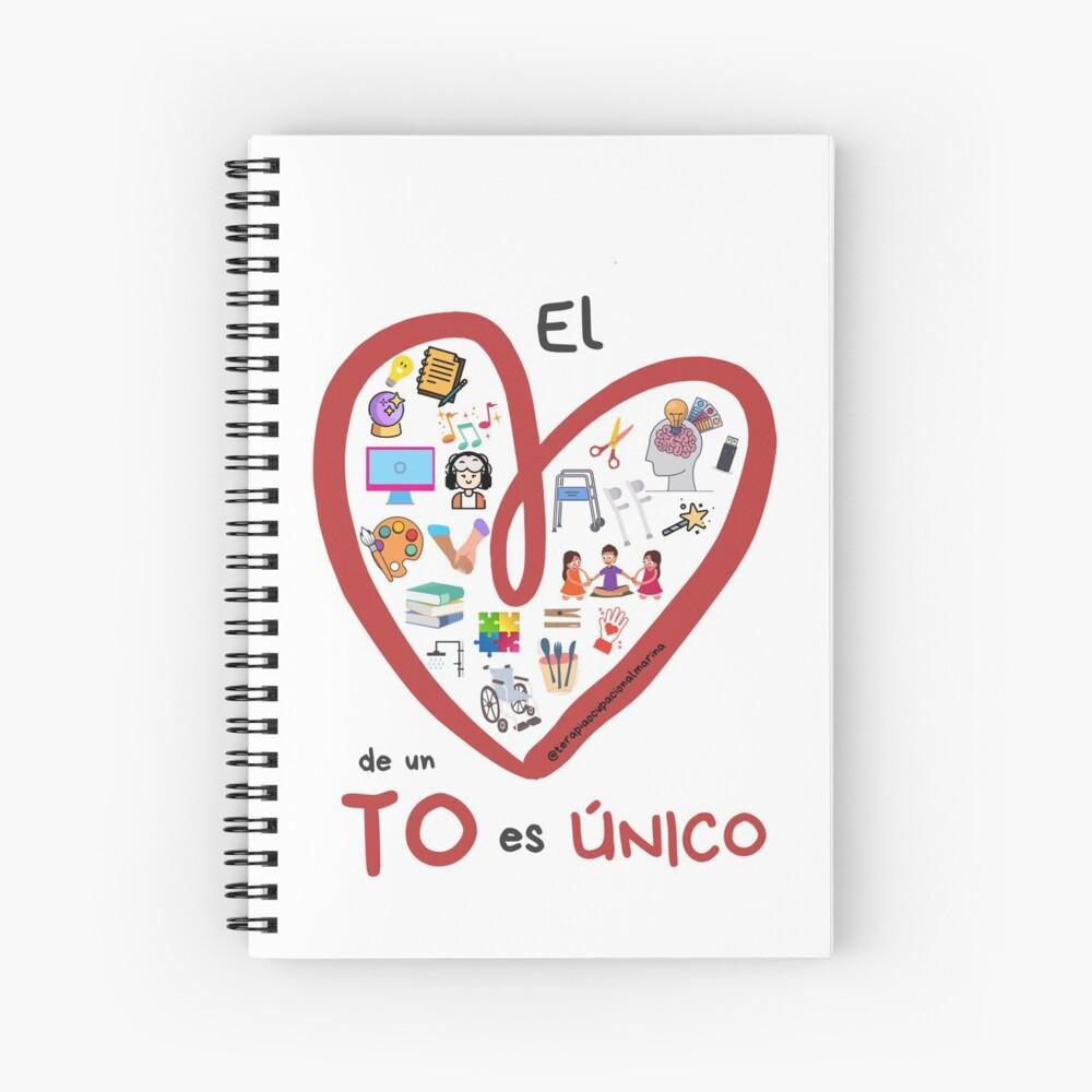 El corazón de un TO es único Cuaderno de espiral