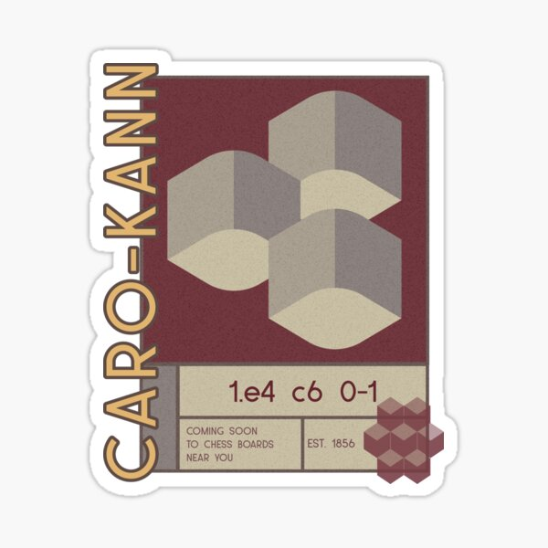 Chess Caro-Kann Sticker