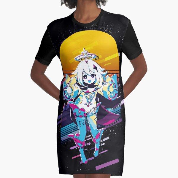 Paimon - Genshin Impact 80s retro Graphic T-Shirt Dress