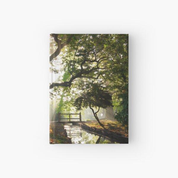 Morning Sun rays At Hampden Park, Eastbourne. Hardcover Journal