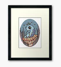 Little Blue Caterpillar Framed Print