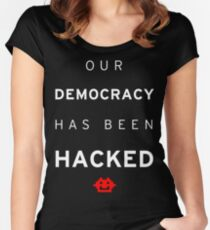 Democracy Hacked Women's Fitted Scoop T-Shirt
