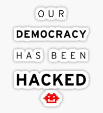 Democracy Hacked Sticker