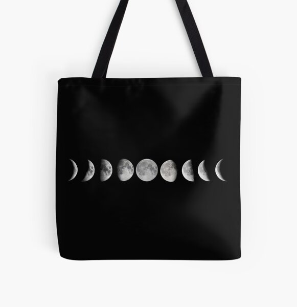 Moon phases All Over Print Tote Bag