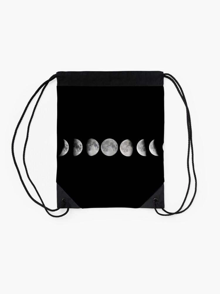 Alternative Ansicht von Mondphasen Turnbeutel