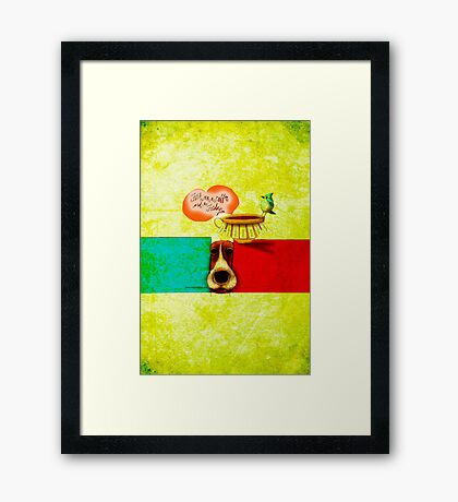 WHAT MY COFFEE SAYS TO ME FEBRUARY 25, 2015 Framed Print