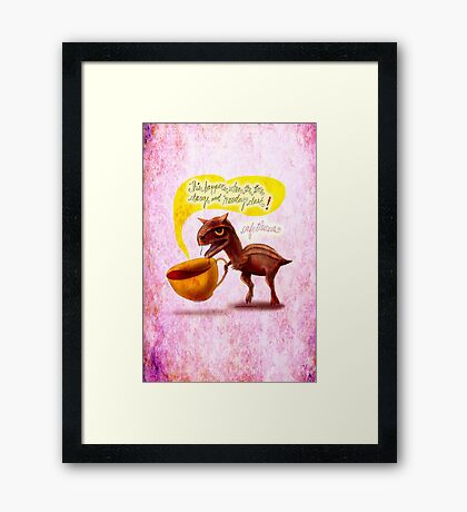 WHAT MY COFFEE SAYS TO ME MARCH 9, 2015 Framed Print