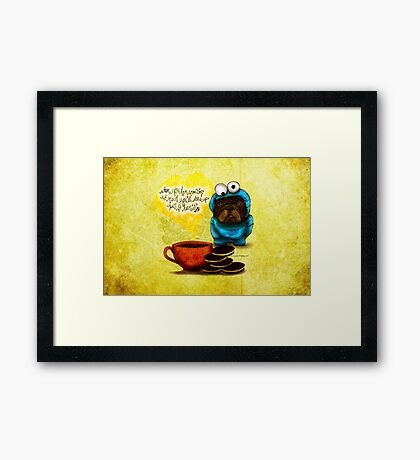 WHAT MY COFFEE SAYS TO ME OCTOBER 7, 2015 Framed Print