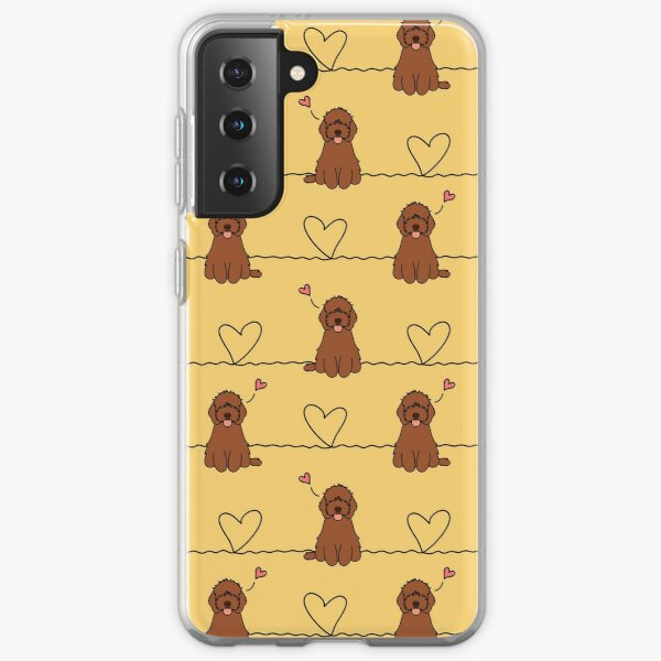 Love Red cockapoo Dog Samsung Galaxy Soft Case