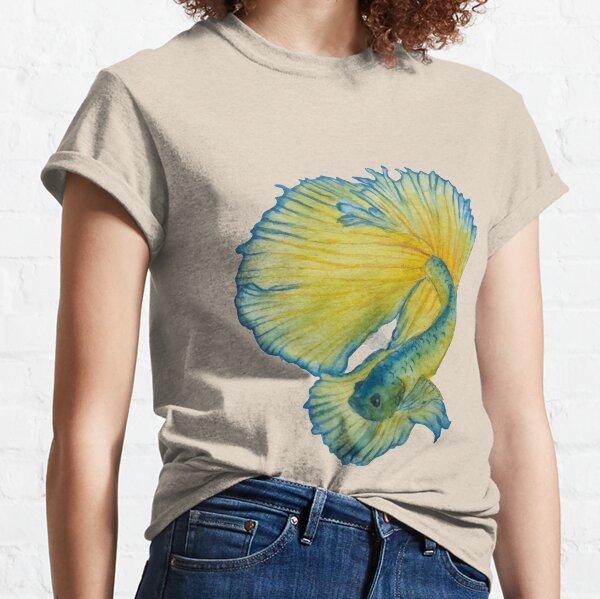 Yellow and Blue Betta fish Classic T-Shirt
