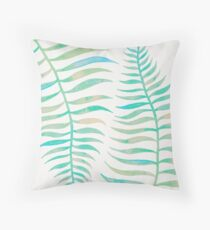 Palm Leaf – Sea Foam Palette Throw Pillow
