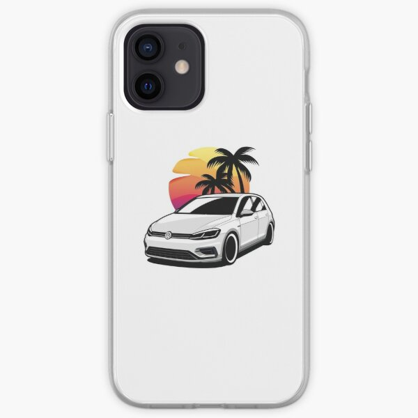 Golf blanco R Funda blanda para iPhone
