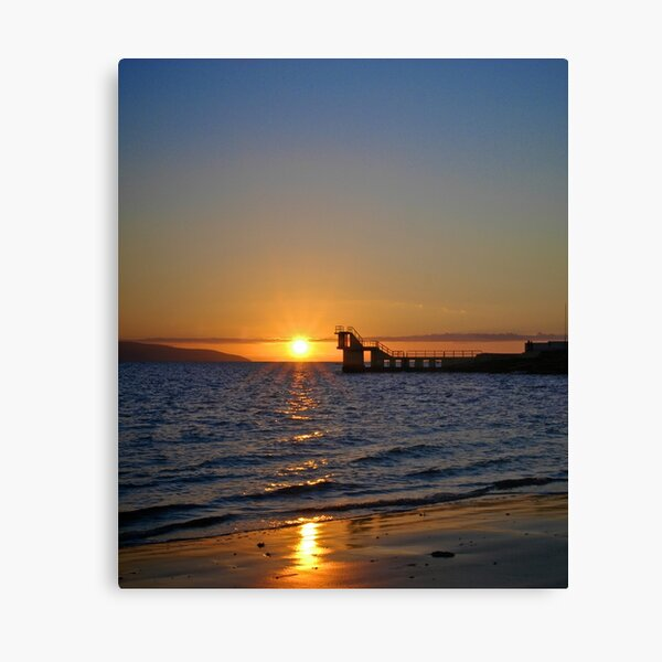 Sunset at Blackrock Diving Tower, Salthill, Galway Canvas Print