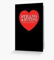 Strang & Buting - Attorneys Of My Heart - Black Greeting Card