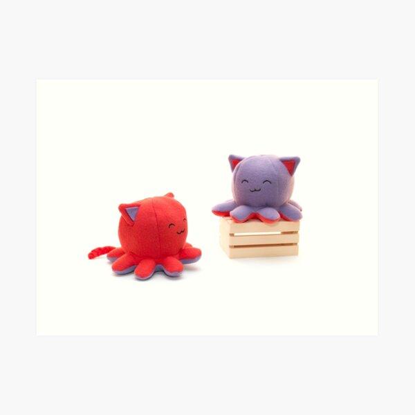 Taneko: Strawberry & Plum Art Print