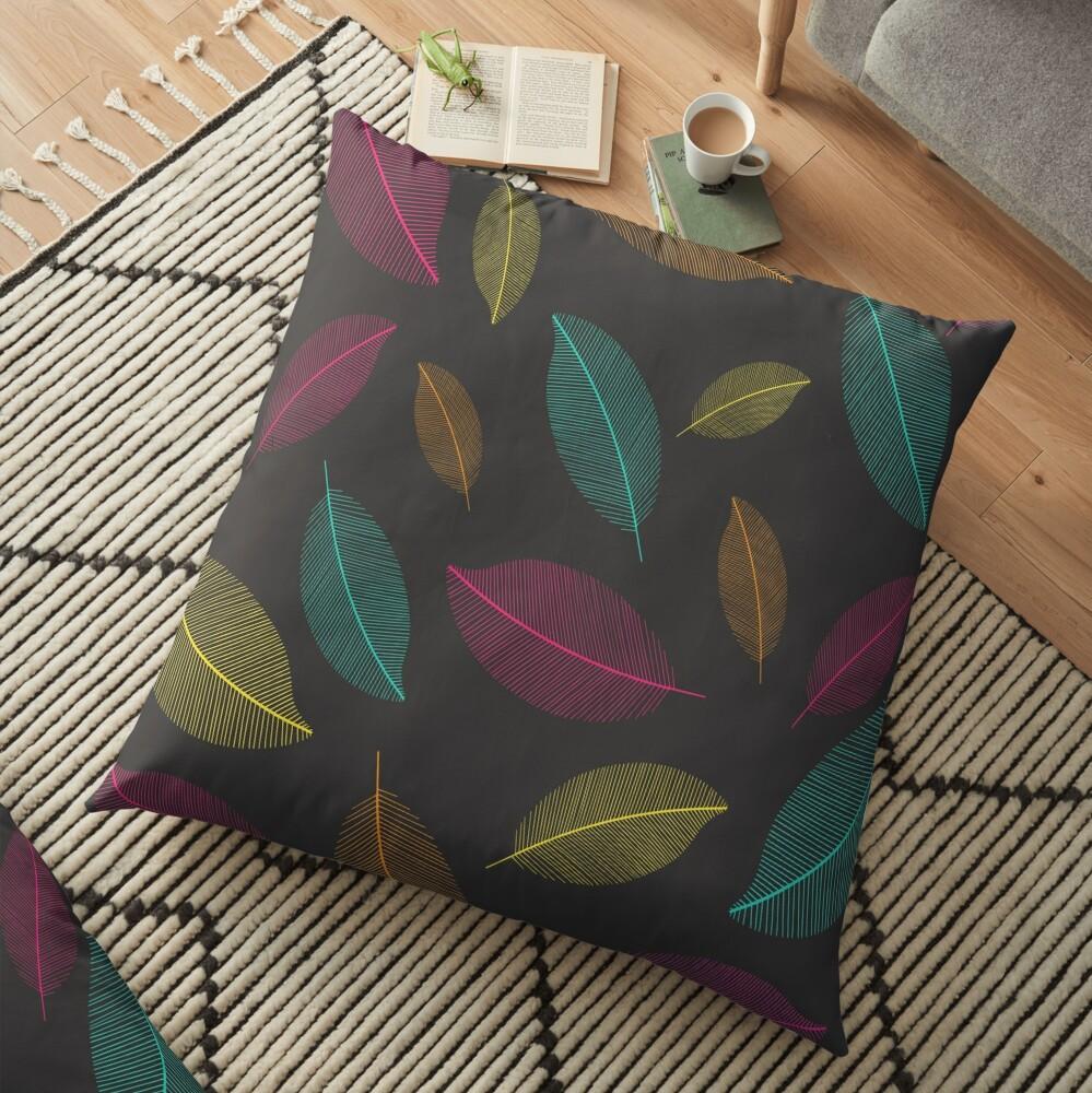 Neon Nature Floor Pillow